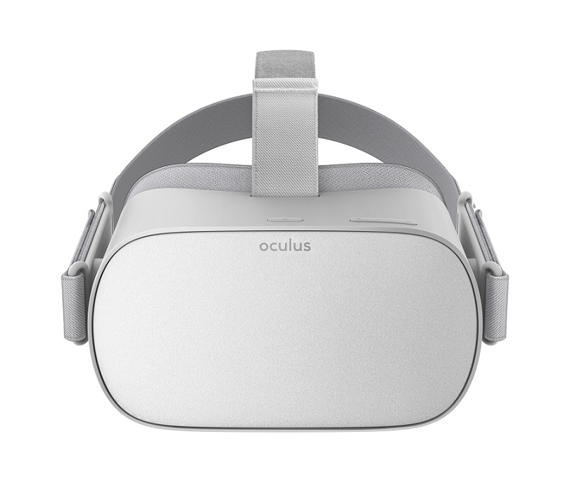 Front shot of the Oculus Go standalone VR headset